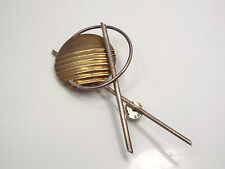 Vintage 1980's Large Hammered Sterling Silver Brooch Pin, L.A. Reese 1989