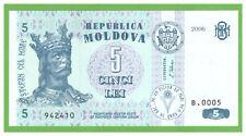 MOLDOVA  - 5 LEI - 2006 - P-9e - UNC - REAL FOTO