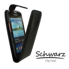 Funda Protectora Teléfono Móvil Con Tapa para Samsung GT-S5660 Galaxy Gio negro