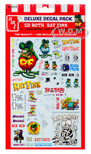 """""""ED ROTH RAT FINK"""" DECAL PACK FOR 1/25 SCALE MODELS BY AMT MKA045"""