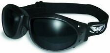 Burning Man Super Dark Motorcycle Goggles Googles Padded ATV Bright Sun Riding