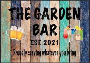 Personalised Garden Bar Beer Shed Metal Sign Wall Plaque Garage Pub Man Cave Sun