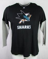 San Jose Sharks Women's Black/Gray Distressed Screen Print Full Zip Hoodie NHL