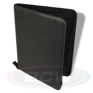 BCW Z-BINDER LX ALBUM - BLACK ZIPPER FOLIO - FAUX LEATHER -  FITS UP TO 20 PAGES