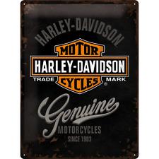 Superb Large Embossed Genuine Harley Davidson Tin Plate Wall Sign VW 40cm x 30cm