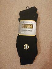 3 Pairs Workforce Black Thermal Socks Size 6-11