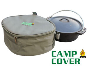 Camp Cover Dutch Oven (Potjie) Cover - No 10 - Khaki Ripstop - CCC011-A
