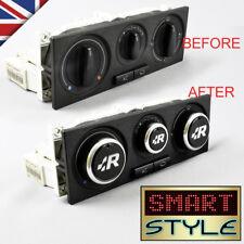 SmartStyle R32 Black Aluminium Heater Knobs Buttons VW Golf MK4/Polo 6N2/Passat/