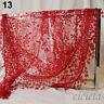 Fashion Women Lace Tassel Floral Knit Mantilla Triangle Hollow Scarf Shawl Wraps