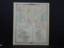 Wisconsin, Antique Map, 1878, Green Lake County, M9#24