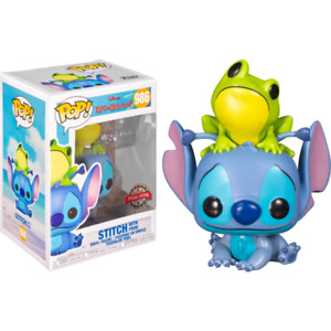 LILO & STITCH - Stitch with Frog Exclusive POP! VINYL + POP PROTECTOR