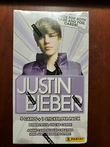 Justin Bieber Panini Trading Card Box Sealed New