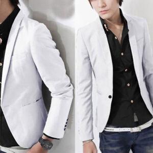 Men Formal Suit Blazer Coat Business Casual One Button Slim Fit Jacket Coat Tops