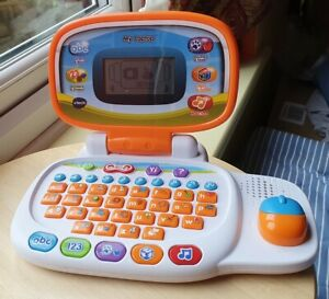 VTECH MY LAPTOP CHILD'S KID'S EDUCATIONAL TOY ORANGE LEARNING PLAY 1554 WORKING