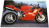 Ducati 916 Motorrad Poster 90er Jahre Kunstdruck 44 x 32 cm motorcycle