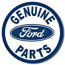 """Genuine Ford Parts""  Tin Metal Sign Approx 12"" diameter"