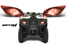 AMR RACING HEAD LIGHT EYES GRAPHIC DECAL SUZUKI KING QUAD ATV PARTS - CORRUPT