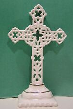 LENOX Ivory PIERCED STANDING CROSS sculpture  8 1/4 Tall  NEW in BOX