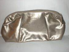 Calvin Klein Cosmetic Case Zippered Top Gold Colored