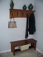 MISSION HALL BENCH ENTRY WAY ARTS & CRAFTS FREE SHIPPING