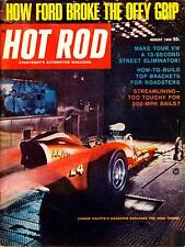 HOT ROD AUG 1965,HOW TO BUILD TOP BRACKET FOR ROADSTER,AUGUST HOTROD MAGAZINE