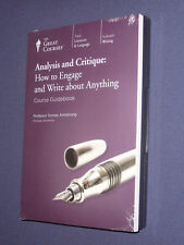 Teaching Co Great Courses  CDs         ANALYSIS and CRITIQUE     new & sealed