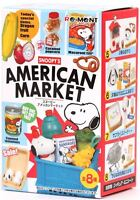 Peanuts Gang Re-Ment Peanuts Snoopy's American Market - 1 Box / 8 Pieces