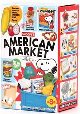 Peanuts Gang Re-Ment Peanuts Snoopy's American Market - 1 Box / 8 Pieces
