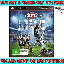 AFL LIVE Game (Playstation 3, PS3) Australian G Rating