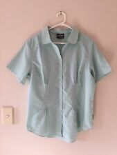 🍁 Womens Kathmandu Short Sleeve Travel Hiking Shirt Top Blouse Green Size 18