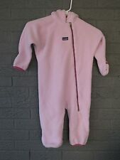 GIRLS PATAGONIA SYNCHILLA FLEECE BUNTING LIGHT PINK SIZE 3T