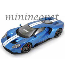 MAISTO 38134 EXCLUSIVE EDITION 2017 FORD GT 1/18 DIECAST MODEL BLUE with STRIPES