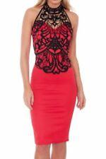 Vestiti da donna rossi in pizzo, taglia 42