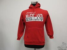 Vtg 80s 90s Jerzees Maryland Terrapins Hoody Sweatshirt sz M Medium University