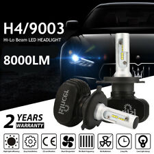 Pair H4 9003 HB2 LED Headlight Conversion Hi/Lo Beam Light Bulbs Kit 6500K White