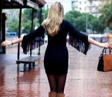 Zara Polyester V-Neck 3/4 Sleeve Dresses for Women