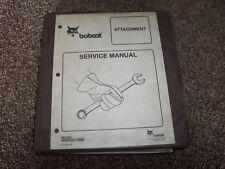 Bobcat Ingersoll Rand Attachment Factory Original Shop Service Repair Manual