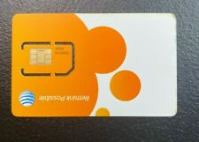 New Standard At&T Sim Card 3G/4G Lte Prepaid Go Phone Lte 4G Ready To Activate.