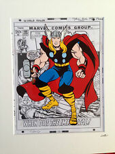 More details for thor - marvel comics - hand drawn & hand painted cel