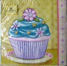 Pack 20 CUPCAKES #2 Napkins 3ply BIRTHDAY PARTY Shabby Country Paper Serviettes