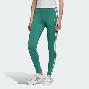 Adidas Originals Women's Adicolor 3-Stripes Tights Future Hydro/White FM3282 d