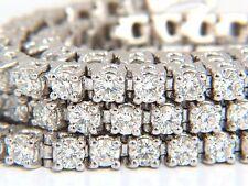 Natural Diamond Tennis Bracelet 12.32ct. G/Vs 14kt Three Rows 7 inch Brilliants