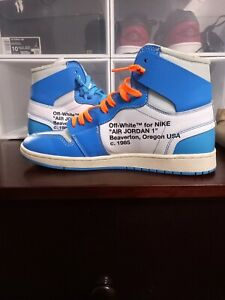 Jordan 1 off white UNC. Used