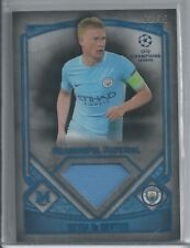 2017 Topps Museum Collection Kevin De Bruyne UEFA Material Sapphire Man City /75