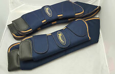 Rhinegold Ripstop Travel Boots Navy/Gold Pony Size