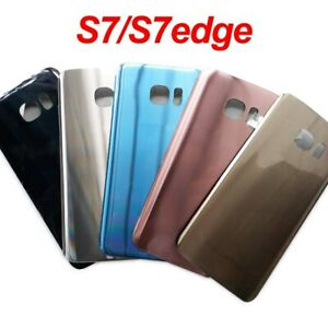 For Samsung Galaxy S7 Edge S7 Battery Cover Back Glass Housing Door Replacemen