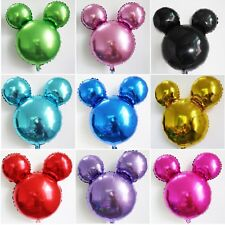 """XL Mickey Mouse head foil balloon 63cm red gold black blue green pink purple 25"""""""