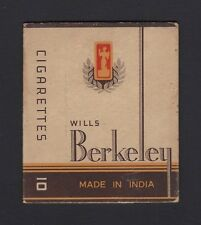 Vintage Wills Berkeley Made in India cigarette packet – W D & H O Wills