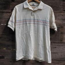 Vtg Jockey 1980's Mens Size L Large Striped Polo Shirt made in Usa
