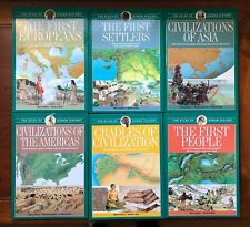THE ATLAS OF HUMAN HISTORY 6 book Set Renzo Rossi Vintage HB Early Civilizations
